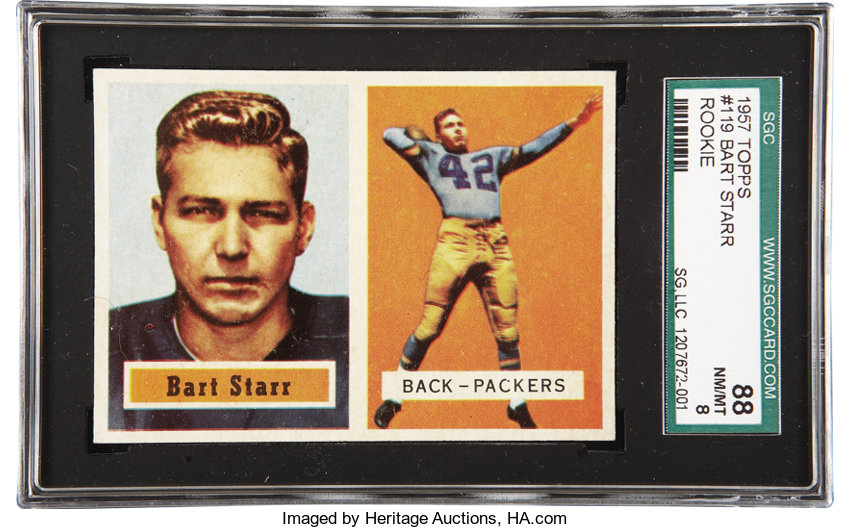 1957 Topps Bart Starr 119 Sgc 88 Nmmt 8 Offered Here Is A