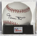 Autographs:Baseballs, Willie Mays Single Signed Baseball PSA Gem Mint 10 . A simplyflawless example of the Say Hey Kid's coveted single. Ball has...