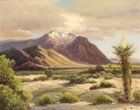 ROBERT WOOD (American, 1889-1979) Desert Sunlight Oil on canvas 24 x 30-1/4 inches (61.0 x 76.8 c
