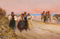 Paintings, FABIO CIPOLLA (Italian, b. 1852). Springtime of Life. Oil on canvas. 22-1/4 x 34-1/2 inches (56.5 x 87.6 cm). Signed low...
