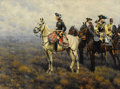 , HUGO UNGEWITTER (German, b.1869). Frederick the Great Surveyingthe Field of Battle, 1922. Oil on canvas. 32-1/2 x 43-1/...