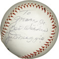 Autographs:Baseballs, Joe DiMaggio Single Signed Baseball. Possibly the highest honor aLittle League baseball can have, is to have a Joe DiMaggi...