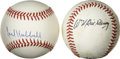 Autographs:Baseballs, Bill Terry and Carl Hubbell Single Signed Baseballs Lot of 2. Twomembers of the baseball Hall of Fame have penned their si...