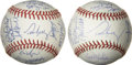 Autographs:Baseballs, 1993 and 1995 Minnesota Twins (Puckett) Team Signed Baseballs Lotof 2. Lot consisting of two Minnesota Twins team signed b...