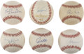Autographs:Baseballs, Group of Six Single Signed Baseballs (Ozzie Smith/Tom Seaver) Lotof 6 . We offer six signed baseballs, five of which are s...