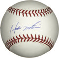 Autographs:Baseballs, Hideki Matsui Single Signed Baseball. At the time the New YorkYankees signed the outfielder in 2003, Matsui was the highes...