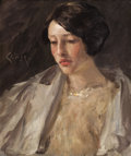 Paintings, WILLIAM MERRITT CHASE (American, 1849-1916). Portrait of Esther M. Groome, circa 1912. Oil on canvas. 22 x 18 inches (55...