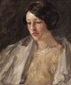 WILLIAM MERRITT CHASE (American, 1849-1916) Portrait of Esther M. Groome, circa 1912 Oil on canvas 22 x 18 inches (55