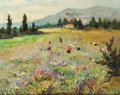 Fine Art - Painting, European, MARCEL DYF (French, 1899-1985). Fields at Biot, on the FrenchRiviera. Oil on canvas. 18-1/4 x 21-3/4 inches (46.4 x 55....