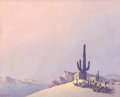 Fine Art - Painting, American:Modern  (1900 1949), JACK VAN RYDER (American, 1899-1967). Desert Sunset. Oil onpanel. 20 x 24 inches (50.8 x 61.0 cm). Signed lowerleft:...