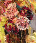 Fine Art - Painting, American:Modern  (1900 1949)  , MERCEDES MATTER (American, 1913-2001). Bouquet of Roses. Oilon masonite. 12 x 10 inches (30.5 x 25.4 cm). ...