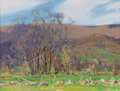 Fine Art - Painting, American:Modern  (1900 1949)  , JAY HALL CONNAWAY (American, 1893-1970). Early Spring,Sunderland. Oil on board. 18 x 24 inches (45.7 x 61.0 cm).Signed...