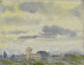 Fine Art - Painting, American:Modern  (1900 1949)  , ARTHUR BOWEN DAVIES (American, 1862-1928). The Castle, circa1925. Watercolor and pastel on paper. 12 x 9 inches (30.5 x...
