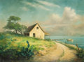 Fine Art - Painting, American:Contemporary   (1950 to present)  , DALHART WINDBERG (American, b. 1933). Cottage by the Lake.Oil on canvas. 18 x 24 inches (45.7 x 61.0 cm). Signed lower ...