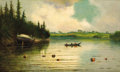 Fine Art - Painting, American:Modern  (1900 1949)  , JAMES EVERETT STUART (American, 1852-1941). A SummerAfternoon, 1906. Oil on canvas. 18 x 30 inches (45.7 x 76.2cm). Si...
