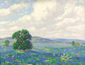 Fine Art - Painting, American:Modern  (1900 1949)  , FRED DARGE (American, 1900-1978). Texas Bluebonnets. Oil oncanvas. 24 x 32 inches (61.0 x 81.3 cm). Signed lower left: ...