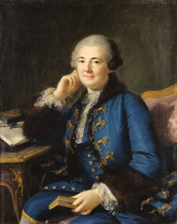FRENCH SCHOOL (19th Century) Portrait of a Gentleman Oil on canvas 35-3/4 x 28-1/4 inches (90.8 x