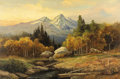 Paintings, ROBERT WOOD (American, 1889-1979). Teton Sunset. Oil on canvas. 24 x 36 inches (61.0 x 91.4 cm). Signed lower left: Ro...