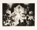 Prints:American, GENE (ALICE GENEVA) KLOSS (American, 1903-1996). ChristmasProcessional at Taos II, 1948. Drypoint etching. 9-7/8 x13-7...