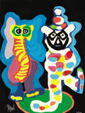 Prints, KAREL APPEL (Dutch, 1921-2006). Ils sont de la famille, 1978. Color woodcut with carborundum. 30 x 22-1/4 inches (76.2 x...