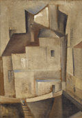 Fine Art - Painting, American:Modern  (1900 1949)  , WERNER DREWES (American, 1899-1985). Street Scene Paris,1929. Oil on canvas. 18-1/2 x 13 inches (47.0 x 33.0 cm). Signe...