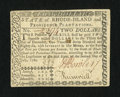 Colonial Notes:Rhode Island, Rhode Island July 2, 1780 $2 Fully Signed Extremely Fine....