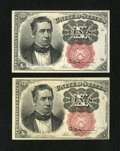 Fractional Currency:Fifth Issue, Fr. 1266 Pair 10c Fifth Issue Choice New.... (Total: 2 notes)