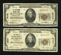 National Bank Notes:Pennsylvania, McVeytown, PA - $20 1929 Ty. 1 The McVeytown NB Ch. # 8773;. Souderton, PA - $20 1929 Ty. 1 The Peoples NB Ch. 1... (Total: 2 notes)