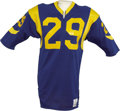 Football Collectibles:Uniforms, Mid-1980's Eric Dickerson Game Worn Jersey. Early career gamer was worn by the standout running back from Southern Methodis...