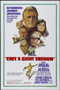 """Movie Posters:War, Cast a Giant Shadow (United Artists, 1966). One Sheet (27"""" X 41"""")and Pressbook (13"""" X 18""""). War.... (Total: 2 Items)"""