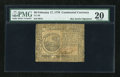 Colonial Notes:Continental Congress Issues, Continental Currency February 17, 1776 $6 PMG Very Fine 20....