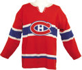 Hockey Collectibles:Uniforms, 1967-68 Jacques Laperriere Game Worn Jersey. Few can argue that thetimeless design of the Montreal Canadiens hockey sweate...
