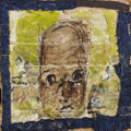 Fine Art - Painting, American:Contemporary   (1950 to present)  , PURVIS YOUNG (American, b. 1943). Untitled Portrait. Mixedmedia on board. 23-3/4 x 23-3/4 inches (60.3 x 60.3 cm). ...