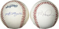Autographs:Baseballs, Myers/Sojo and Cassady/Heredia Multi-Signed Baseballs Lot of 2. Twoformer New York Yankees, Luis Sojo and Mike Myers have ...