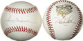 Autographs:Baseballs, Derek Jeter and Reggie Jackson Single Signed Baseballs. Perhaps twoof the most popular modern day New York Yankees, Derek ...