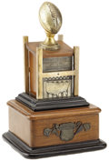 Football Collectibles:Others, 1934 Rose Bowl Trophy. The final Rose Bowl appearance by an Ivy League school on this 1934 New Year's Day was likewise the ...