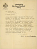 Autographs:U.S. Presidents, Franklin D. Roosevelt: Typed Letter Signed as New York Senator....