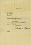 Autographs:U.S. Presidents, Franklin D. Roosevelt: Typed Letter Signed with Holograph Correction as New York Gubernatorial Candidate....