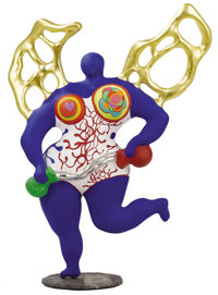 NIKI DE SAINT-PHALLE (French, 1930-2002) Angel of Temperance, 1987 Sculpted resin 27 x 21 x 8 inc