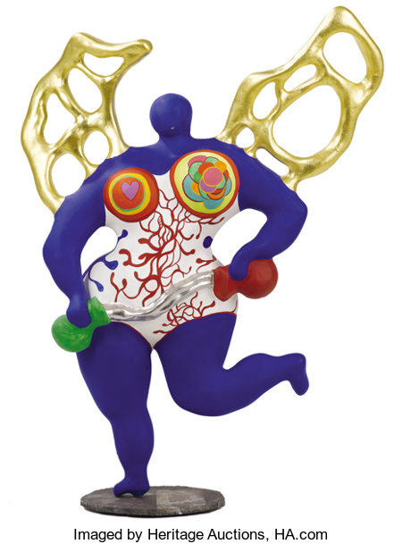 NIKI DE SAINT-PHALLE (French, 1930-2002)Angel of Temperance, 1987Sculpted resin27 x 21 x 8 inches (68.6 x 53.3 x 2...
