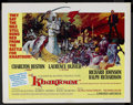 "Movie Posters:Adventure, Khartoum (United Artists, 1966). Half Sheet (22"" X 28""). HistoricalAction. Starring Charlton Heston, Laurence Olivier, Rich..."