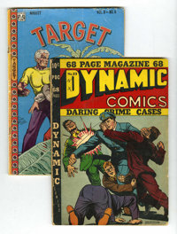 Dynamic Comics #23 and Target Comics V8#6 Group (Chesler/Novelty, 1947) Condition: Average VG.... (Total: 2)