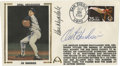 Autographs:Others, Don Drysdale and Orel Hershiser Dual-Signed First Day Cover. Exceptional First Day Cover dated 1988 commemorates Orel Hersh...