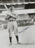 """Autographs:Photos, Travis Jackson Signed Photograph. John McGraw's go-to guy for theNew York Giants for years, Travis Jackson was known as """"S..."""
