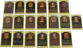 Autographs:Post Cards, Signed Gold Hall of Fame Plaques Lot of 19. A total of nineteengold Hall of Fame plaque postcards is offered here, each si...