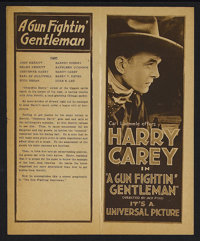 "A Gun Fightin' Gentleman (Universal, 1919). Herald (4"" X 10""). Western. Starring Harry Carey, Barney Sherry, K..."