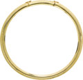 Estate Jewelry:Necklaces, Gold Omega Necklace. The 14k yellow gold omega necklace measures 10mm wide. Gross weight 67.00 grams.. Length: 16 inche...