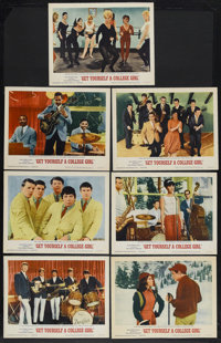 """Get Yourself a College Girl (MGM, 1964). Lobby Cards (7) (11"""" X 14""""). Musical Comedy. Starring Mary Ann Mobley..."""