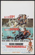 "Movie Posters:James Bond, Thunderball (United Artists, 1965). Window Card (14"" X 22""). JamesBond Action. Starring Sean Connery, Claudine Auger, Adolf..."