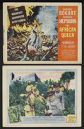 "Movie Posters:Adventure, The African Queen (United Artists, 1952). Title Lobby Card (11"" X14"") and Lobby Card (11"" X 14""). Adventure. Starring Humph...(Total: 2 Items)"